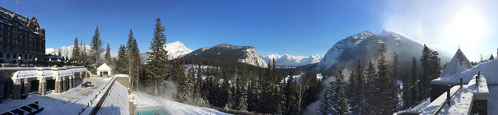 Banff ski trip. Banff Springs Hotel.    ©2019 Karen Bobotas Photographer
