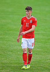 RHYL, WALES - Monday, September 4, 2017: Wales' Jack Vale during an Under-19 international friendly match between Wales and Iceland at Belle Vue. (Pic by Paul Greenwood/Propaganda)