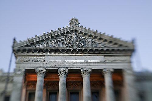 South America, Uruguay, Canelones, Montevideo, Palacio Legislativo, legislature building, Plaza Fabini