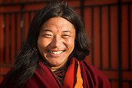 It's very rare to see Tibetan Buddhist monks with hair, but some of then do have it.  Dawu, Tibet (China)