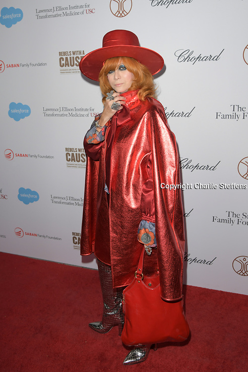 LINDA RAMONE attends the 'Rebels With A Cause'  benefitting the Lawrence J. Ellison Institute for Transformative Medicine of USC at The Water Garden in Santa Monica, California.