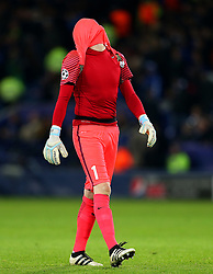 Ludvic Butelle of Club Brugge looks dejected after his side miss a chance - Mandatory by-line: Matt McNulty/JMP - 22/11/2016 - FOOTBALL - King Power Stadium - Leicester, England - Leicester City v Club Brugge - UEFA Champions League