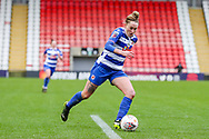 Readingmidfielder Rachel Rowe (23) runs with the ball during the FA Women's Super League match between Manchester United Women and Reading LFC at Leigh Sports Village, Leigh, United Kingdom on 7 February 2021.