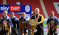 Football -  2020 / 2021 Sky Bet League One - Charlton Athletic vs Hull City - The Valley<br /> <br /> Hull City head coach Grant McCann lifts the trophy.<br /> <br /> COLORSPORT