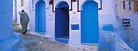 Maroc, Region du Rif,  Ville de Chefchaouen, La medina bleue // Chefchaouen (Chaouen) town, Rif area. Morocco
