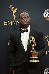 Sterling K. Brown poses in the press room during the 68th Annual Primetime Emmy Awards at Microsoft Theater on September 18, 2016 in Los Angeles, CA, USA. Photo by Lionel Hahn/ABACAPRESS.COM