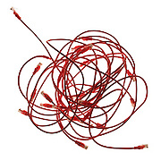 Cut out of red phone cables