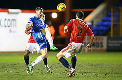 Peterborough United's Conor Washington controls the ball - Photo mandatory by-line: Joe Dent/JMP - Tel: Mobile: 07966 386802 14/02/2014 - SPORT - FOOTBALL - Peterborough - London Road Stadium - Peterborough United v Walsall - Sky Bet League One