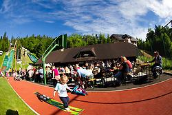 SC Sebenje during ski jumping event Old Eagles - Stari Orli 2013 organised by SK Trzic - Trifix on May 18, 2013 in Sebenje pri Trzicu, Slovenia. (Photo By Vid Ponikvar / Sportida)