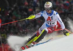 "29.01.2019, Planai, Schladming, AUT, FIS Weltcup Ski Alpin, Slalom, Herren, 1. Lauf, im Bild Loic Meillard (SUI) // Loic Meillard of Switzerland in action during his 1st run of men's Slalom ""the Nightrace"" of FIS ski alpine world cup at the Planai in Schladming, Austria on 2019/01/29. EXPA Pictures © 2019, PhotoCredit: EXPA/ Erich Spiess"