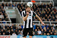 Newcastle United defender Paul Dummett (3) during the EFL Sky Bet Championship match between Newcastle United and Burton Albion at St. James's Park, Newcastle, England on 5 April 2017. Photo by Richard Holmes.
