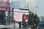Somebody put Japanese porn up on a huge Videotron billboard at a major Jakarta intersection