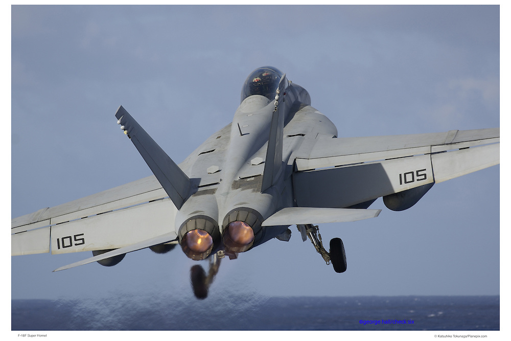 F-18F Super Hornet taking off from aircraft carrier