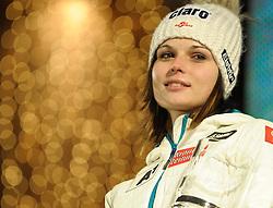 28-12-2011 SKIEN: FIS WORLD CUP: LIENZ<br /> Anna Fenninger AUT // during the victory ceremony Giant Slalom first Run at FIS Ski Worldcup at Worldcupcourse Hochstein in Lienz<br /> **NETHERLANDS ONLY** <br /> ©2011-FotoHoogendoorn.nl/EXPA/M. Gruber