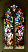 Stained glass window c 1882 Adoration of Magi, Great Bealings church, Suffolk, England, UK by Ward and Hughes