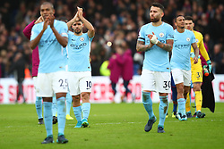 31 December 2017 -  Premier League - Crystal Palace v Manchester City - Sergio Aguero of Manchester City applauds among his team mates - Photo: Marc Atkins/Offside