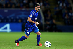 Christian Fuchs of Leicester City  - Mandatory by-line: Matt McNulty/JMP - 27/09/2016 - FOOTBALL - King Power Stadium - Leicester, England - Leicester City v FC Porto - UEFA Champions League