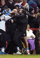 Photo: Olly Greenwood.<br />Charlton Athletic v Wycombe Wanderers. Carling Cup. 19/12/2006. Wycombe manager Paul Lambert celebrates victory