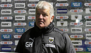Glyn Hodges First Team Manager of AFC Wimbledon speaks to the media after the EFL Sky Bet League 1 match between AFC Wimbledon and Lincoln City at Plough Lane, London, United Kingdom on 2 January 2021.