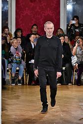 Designer Bill Gaytten walks on the runway during the John Galliano Fashion Show during Paris Fashion Week Womenswear Fall Winter 2018-2019 held in Paris, France on March 4, 2018. (Photo by Jonas Gustavsson/Sipa USA)