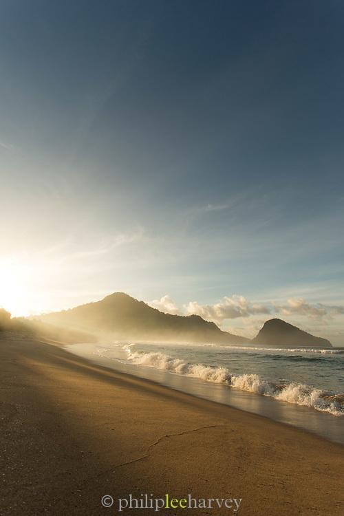 Sunset over Red Island Beach, Red Island, Banyuwangi Regency, East Java, Indonesia, Southeast Asia
