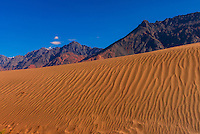 Sand dunes in the remote Nubra Valley of Ladakh, Jammu and Kashmir State, India.