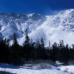 Boott Spur on Mt. Washington as seen from near Hermit Lakes in Tuckerman Ravine.  White Mountain National Forest. Mt. Washingotn, NH