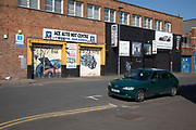 Digbeth in Birmingham city centre eerily quiet and deserted under lockdown due to Coronavirus with businesses shut down on 24th April 2020 in Birmingham, England, United Kingdom. Coronavirus or Covid-19 is a new respiratory illness that has not previously been seen in humans. While much or Europe has been placed into lockdown, the UK government has extended stringent rules as part of their long term strategy, and in particular social distancing, which has left usually bustling areas like a ghost town.