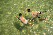 A couple scuba diving, in Koh Rong Island, Kingdom of Cambodia. PHOTO TIAGO MIRANDA
