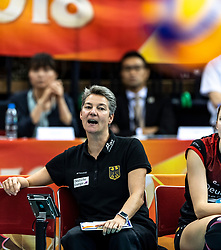 07-10-2018 JPN: World Championship Volleyball Women day 8, Nagoya<br /> Germany - Brazil / Assistant Coach Saskia van Hintum of Germany