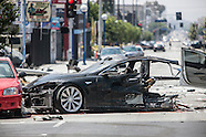 Tesla Wreck 7-4-2014