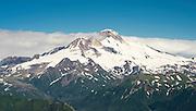 Aerial view of the Iliamna Volcano, Lake Clark National Park, Alaska.