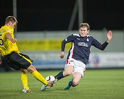 Livingston Kyle Jacobs and Falkirk's Craig Sibbald.<br /> Falkirk 0 v 0  Livingston, Scottish Championship game played 21/10/2014 at The Falkirk Stadium.