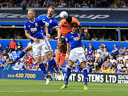 Birmingham City defenders try to prevent a Chris Gunter of Reading header - Mandatory by-line: Paul Roberts/JMP - 26/08/2017 - FOOTBALL - St Andrew's Stadium - Birmingham, England - Birmingham City v Reading - Sky Bet Championship