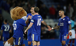Leicester City players celebrate at the final whistle  - Mandatory byline: Jack Phillips/JMP - 07966386802 - 22/09/2015 - SPORT - FOOTBALL - Leicester - King Power Stadium - Leicester City v West Ham United - Capital One Cup Round 3