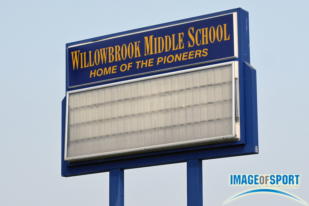 A general view of Willowbrook Middle School marquee sign, Tuesday, Sept. 15, 2020, in Compton, Calif.
