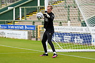 Lewis Thomas (24) of Forest Green Rovers warming up ahead of the Pre-Season Friendly match between Yeovil Town and Forest Green Rovers at Huish Park, Yeovil, England on 31 July 2021.