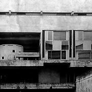 Éveux, France, Alvernia-Rodano-Alpi, 2002: View of the  visitors's Room (L) and Library (R), Sainte Marie de La Tourette Convent (1946) - Le Corbusier arch - Visit Shop Images to purchase and download a digital file and explore other AS images archive. Photographs by Alejandro Sala
