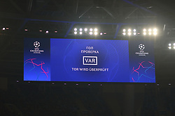 November 5, 2019, Saint-Petersburg, Russia: Russian Federation. Saint-Petersburg. Gazprom Arena. Football. UEFA Champions League. Group G. round 4. Football club Zenit - Football Club RB Leipzig. Player of VAR, video replay, video, video assistant, view, (Credit Image: © Russian Look via ZUMA Wire)