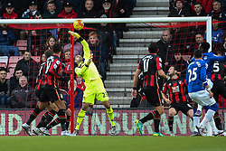 Adam Federici of Bournemouth makes a save during the first half - Mandatory by-line: Jason Brown/JMP - Mobile 07966 386802 28/11/2015 - SPORT - FOOTBALL - Bournemouth, Vitality Stadium - AFC Bournemouth v Everton - Barclays Premier League