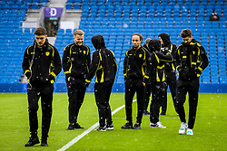 Brighton & Hove Albion player inspect prior to kick off in the snow - Mandatory by-line: Jason Brown/JMP - 11/02/2017 - FOOTBALL - Amex Stadium - Brighton, England - Brighton and Hove Albion v Burton Albion - Sky Bet Championship