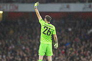 Emiliano Martínez of Arsenal during the EFL Cup match between Arsenal and Nottingham Forest at the Emirates Stadium, London, England on 24 September 2019.