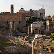 The Roman Forum served as the center of social, religious and commercial life during Republic days.