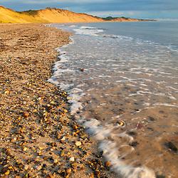 Low tide on Duck Harbor Beach in Wellfleet, Massachusetts