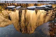 Reflection of El Capitan mountain, Yosemite national Park, California USA