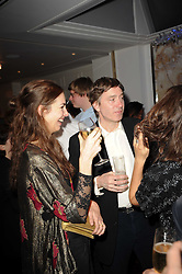 The MARQUESS OF CHOLMONDELEY and ROSE HANBURY at a party following the premier of Boogie Woogie held at The Westbury Hotel, Conduit Street, London on 13th April 2010.