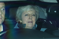 © Licensed to London News Pictures. 20/12/2019. London, UK. Former Prime Minister Theresa May leaves parliament after MPs voted to pass Boris Johnson's Withdrawal Agreement Bill. Photo credit: Rob Pinney/LNP