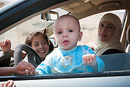 Syrian family in a car in Maaloula, Syria.<br /><br />(June 9, 2010)