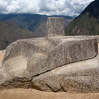 The ritual stone Intiwatana was designed according to the astronomic calendar and the clock used by the Incas.