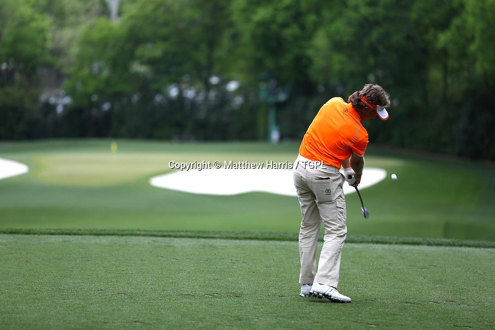 Bernhard LANGER (GER) at 4th tee during fourth round,US Masters 2013,Augusta National,Augusta,Georgia,USA.